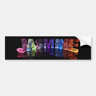The Name Jasmine in 3D Lights (Photograph) Bumper Sticker