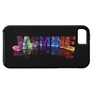 The Name Jasmine in 3D Lights (Photograph) iPhone 5 Covers