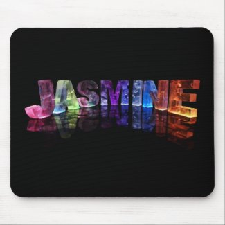 The Name Jasmine in 3D Lights (Photograph) Mousepad