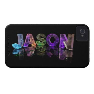 The Name Jason in 3D Lights (Photograph) iPhone 4 Case-Mate Case