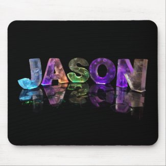 The Name Jason in 3D Lights (Photograph) Mousemat