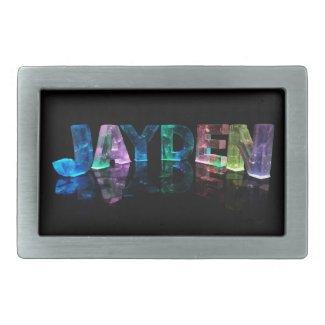 The Name Jayden in 3D Lights (Photograph) Belt Buckle