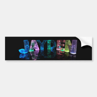 The Name Jayden in 3D Lights (Photograph) Bumper Sticker