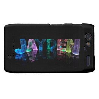 The Name Jayden in 3D Lights (Photograph) Droid RAZR Case