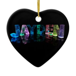 The Name Jayden in 3D Lights (Photograph) Christmas Tree Ornament