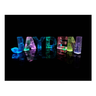 The Name Jayden in 3D Lights (Photograph) Postcard