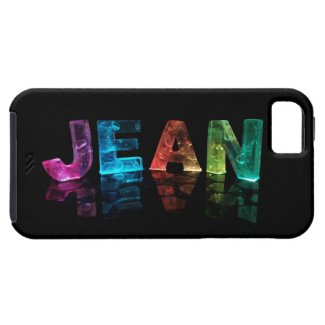 The Name Jean in 3D Lights (Photograph) iPhone 5 Case