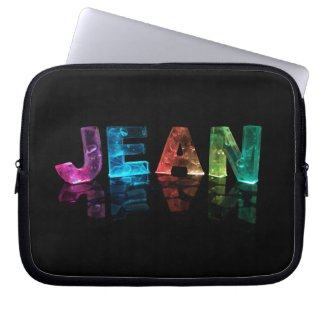 The Name Jean in 3D Lights (Photograph) Laptop Sleeves