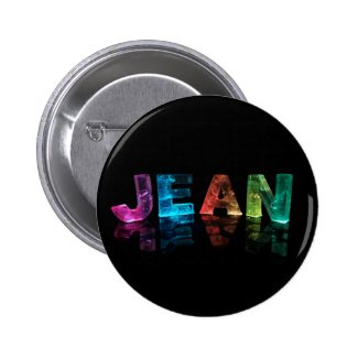The Name Jean in 3D Lights (Photograph) Pin