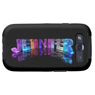The Name Jennifer in 3D Lights (Photograph) Samsung Galaxy SIII Covers