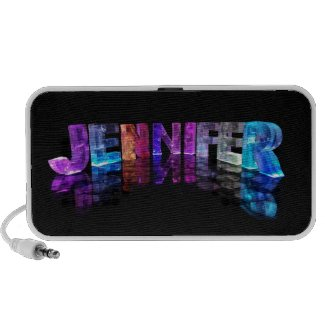 The Name Jennifer in 3D Lights (Photograph) Mp3 Speakers