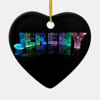 The Name Jeremy in 3D Lights (Photograph) Christmas Ornament