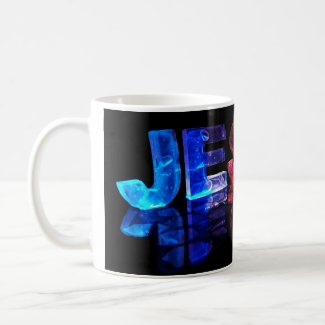 The Name Jesse in 3D Lights (Photograph) Mugs