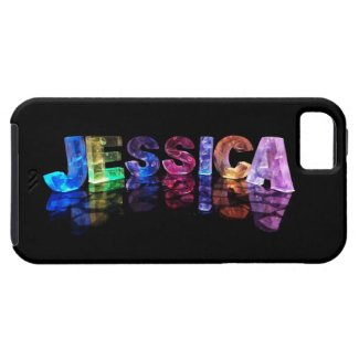 The Name Jessica in 3D Lights (Photograph) iPhone 5 Covers