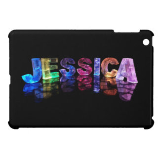 The Name Jessica in 3D Lights (Photograph) Cover For The iPad Mini