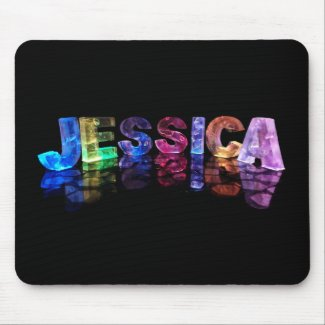 The Name Jessica in 3D Lights (Photograph) Mousemats