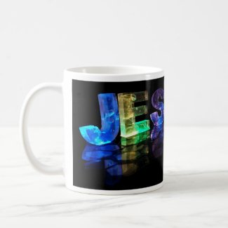 The Name Jessica in 3D Lights (Photograph) Coffee Mug