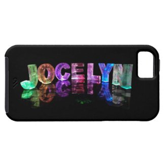 The Name Jocelyn in 3D Lights (Photograph) iPhone 5 Covers