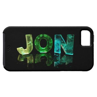 The Name Jon in 3D Lights (Photograph) iPhone 5 Cases