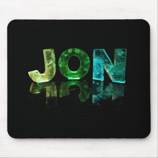 The Name Jon in 3D Lights (Photograph) Mouse Mats
