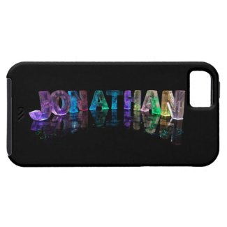 The Name Jonathan in 3D Lights (Photograph) iPhone 5 Cases