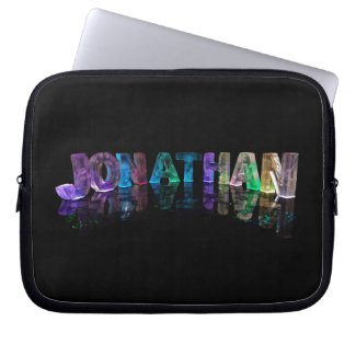 The Name Jonathan in 3D Lights (Photograph) Laptop Computer Sleeves