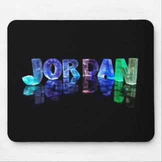 The Name Jordan in 3D Lights (Photograph) Mouse Mat