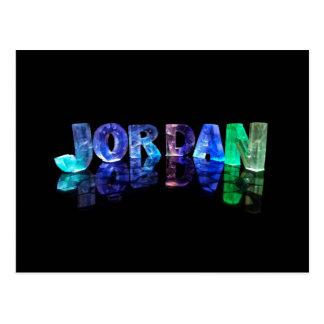 The Name Jordan in 3D Lights (Photograph) Postcard