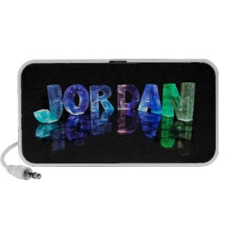 The Name Jordan in 3D Lights (Photograph) Speaker