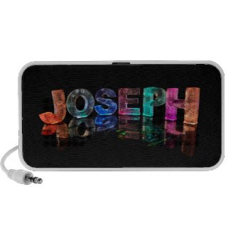 The Name Joseph in 3D Lights (Photograph) Mp3 Speaker