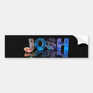 The Name Josh in 3D Lights (Photograph) Bumper Sticker
