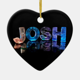 The Name Josh in 3D Lights (Photograph) Christmas Ornament