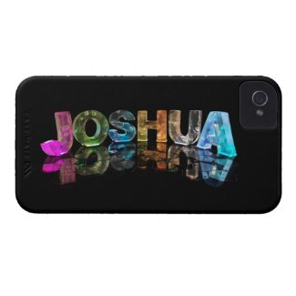 The Name Joshua in 3D Lights (Photograph) iPhone 4 Case