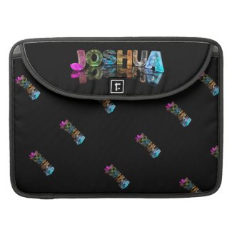 The Name Joshua in 3D Lights (Photograph) Sleeves For MacBooks