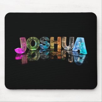 The Name Joshua in 3D Lights (Photograph) Mouse Mats