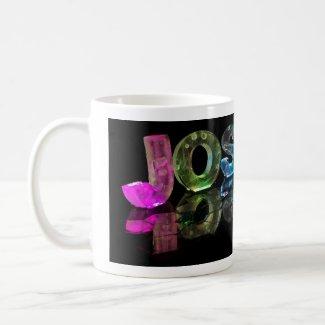 The Name Joshua in 3D Lights (Photograph) Coffee Mug