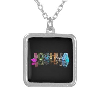 The Name Joshua in 3D Lights (Photograph) Pendant