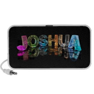 The Name Joshua in 3D Lights (Photograph) Travel Speakers
