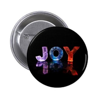 The Name Joy in 3D Lights (Photograph) Pinback Button