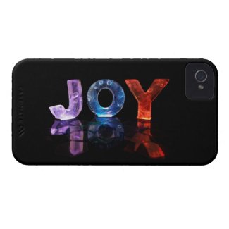 The Name Joy in 3D Lights (Photograph) Case-Mate iPhone 4 Cases