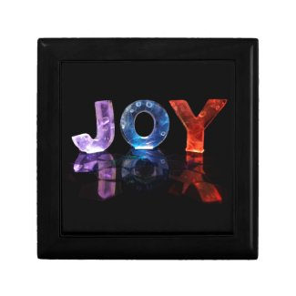 The Name Joy in 3D Lights (Photograph) Jewelry Box
