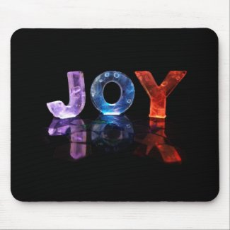 The Name Joy in 3D Lights (Photograph) Mouse Pads