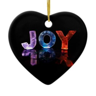 The Name Joy in 3D Lights (Photograph) Christmas Ornament