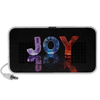 The Name Joy in 3D Lights (Photograph) PC Speakers