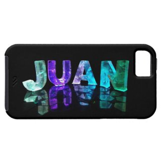 The Name Juan in 3D Lights (Photograph) iPhone 5 Covers
