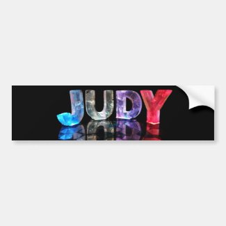 The Name Judy in 3D Lights (Photograph) Bumper Stickers