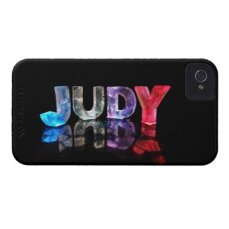 The Name Judy in 3D Lights (Photograph) iPhone 4 Case-Mate Case