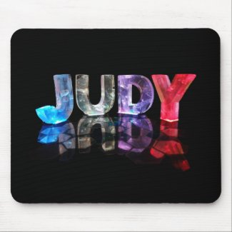 The Name Judy in 3D Lights (Photograph) Mouse Pads