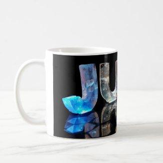 The Name Judy in 3D Lights (Photograph) Mug