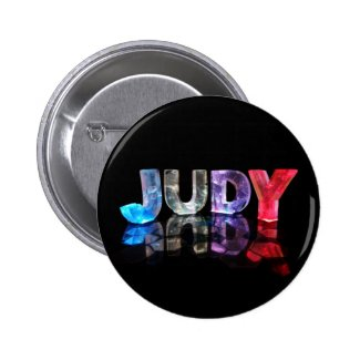 The Name Judy in 3D Lights (Photograph) Pins